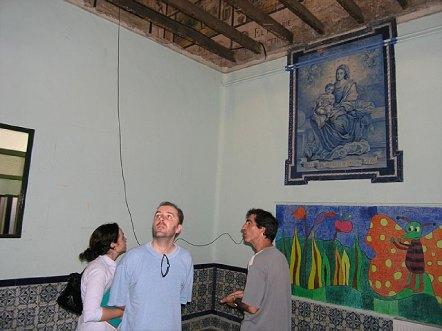 VISITA DE TÉCNICOS DE LA DELEGACIÓN DE CULTURA DE SEVILLA A LOS ALTOS COLEGIOS.
