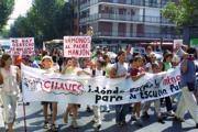 Manifestación y Palacio de Las Sirenas